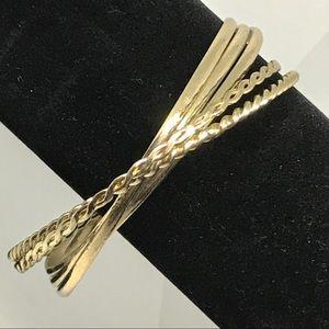 Bangle Bracelet 5 interlocked